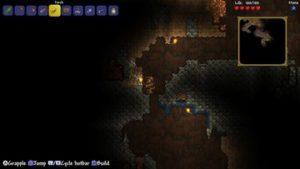 金の鉱石を発見