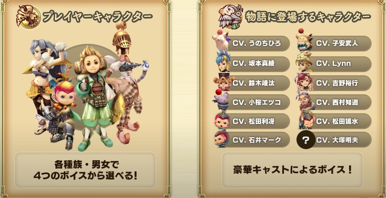 比較④:キャラクターボイスの追加
